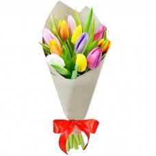 Букет Тюльпаны в крафте 11 шт